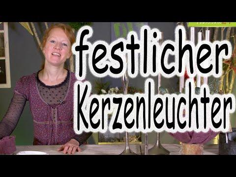 DIY: festlicher Kerzenleuchter | Adventsgesteck | Tischdeko | Adventsdeko |Adventskranz| Floristik24