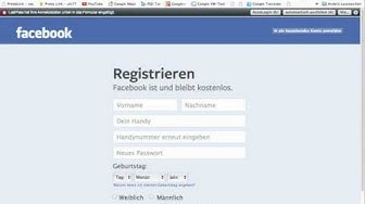 Facebook-Registrierung/Facebook-Account OHNE Handy-Nummer