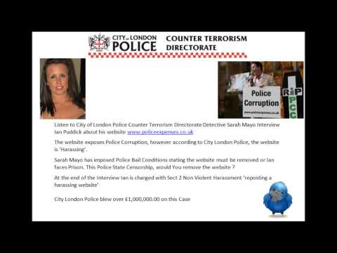 City of London Counter Terrorism Police interview Ian Puddick