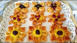 Delizie Di Pasta Sfoglia Con Crema E Frutti Di Bosco Di Rita Chef.