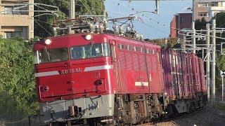 【JR貨物】1087レ ED76-81 ランテック積載
