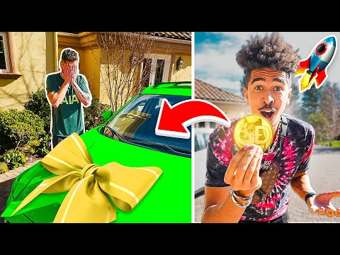 Surprising My Camera Man With a NEW CAR Using Crypto!