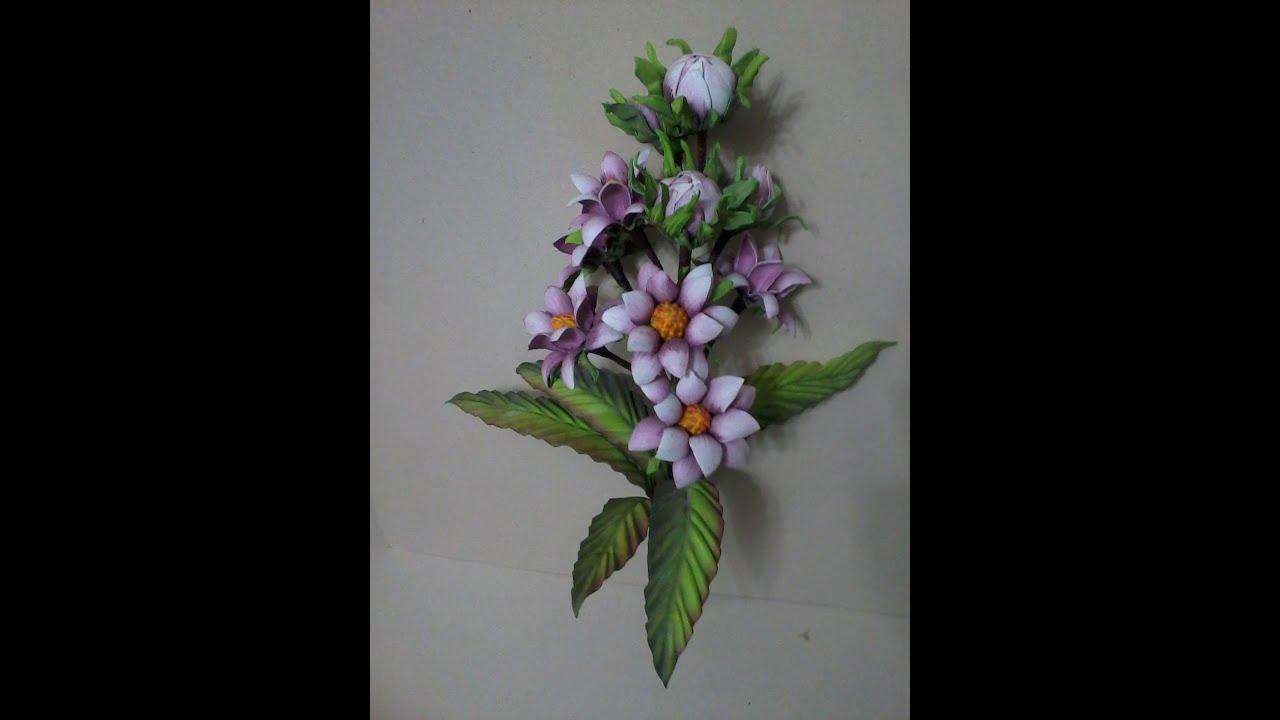 Adesivo De Parede Emoji ~ Mega Flores Flores em EVA JACINTO (passo a passo