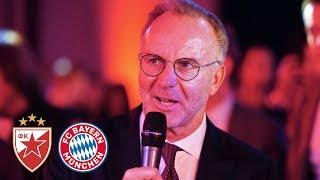 """""""Eine unglaubliche Serie"""" - Die Bankettrede von Karl-Heinz Rummenigge nach dem Spiel in Belgrad"""