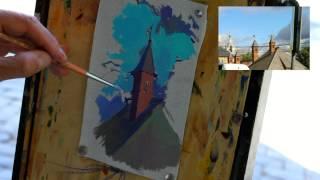 Еще немного о пленэре - Обучение живописи. Масло. Введение, 25 серия