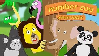 Learn Animal Colours For Children | Number Zoo | Toddler Fun Learning
