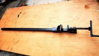Homemade long bar heavy clamp