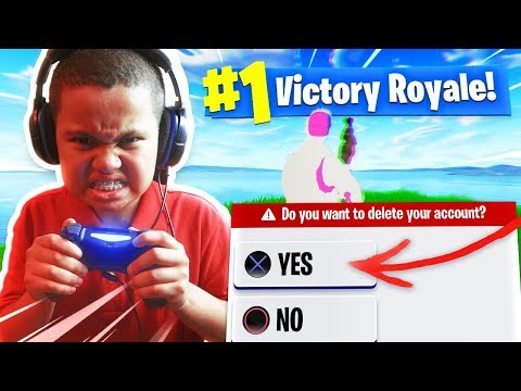 10 YEAR OLD LITTLE BROTHER FORTNITE ACCOUNT GETS HACKED AND DELETED *PRANK!!!* (HE RAGED AND CRIED!)