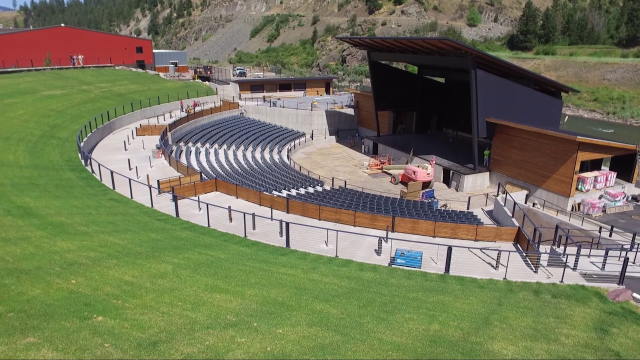 Drones Eye View Of The New Kettlehouse Amphitheater