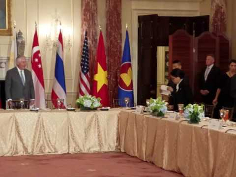 US Secretary of State Rex Tillerson hosts Asean foreign ministers in Washington