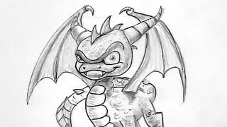 Draw Spyro Skylander Tutorial