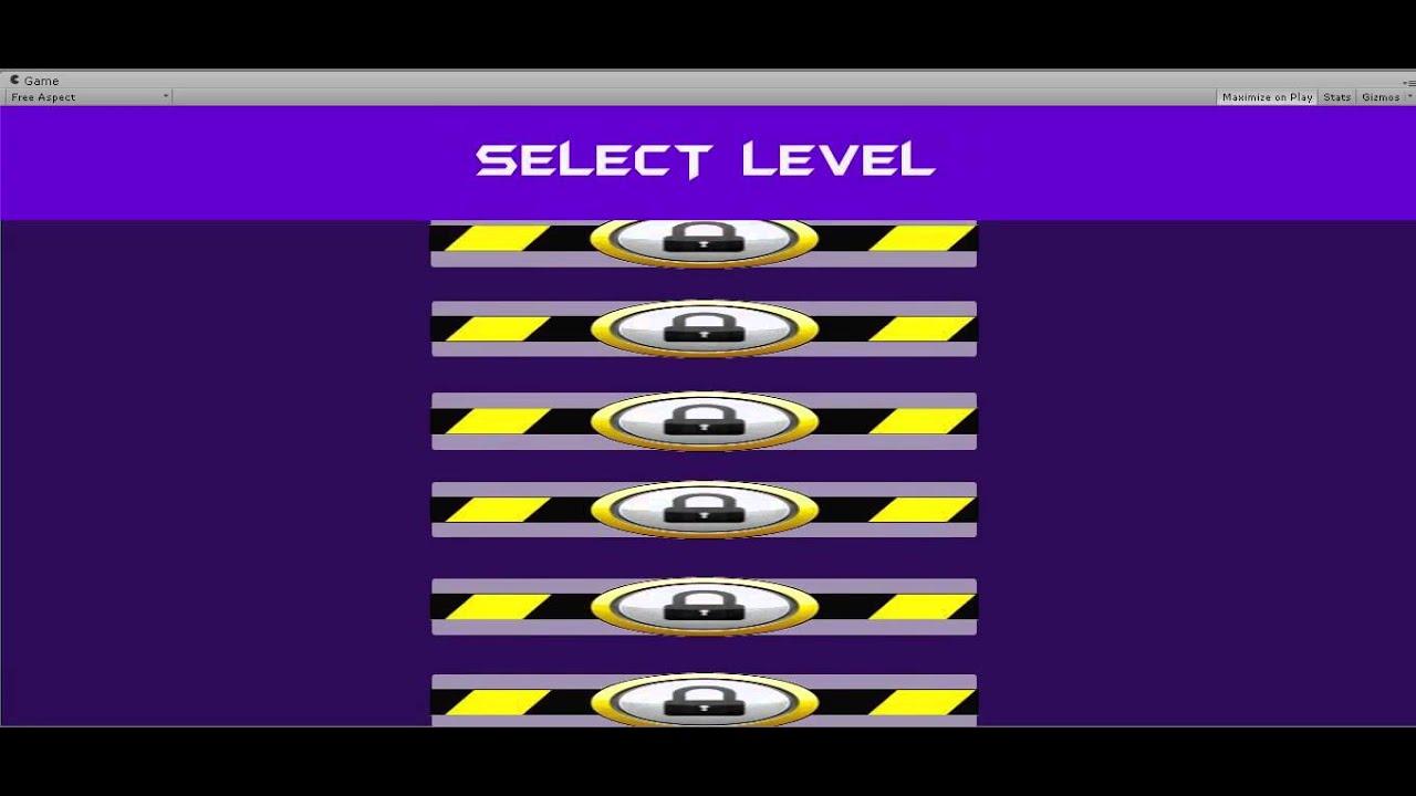Unity 4 6 GUI - Create A Scroll Level Select Menu