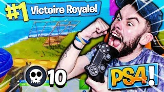 MON INCROYABLE TOP 1 AVEC 10 KILLS SUR PS4 !! // Fortnite Battle Royale