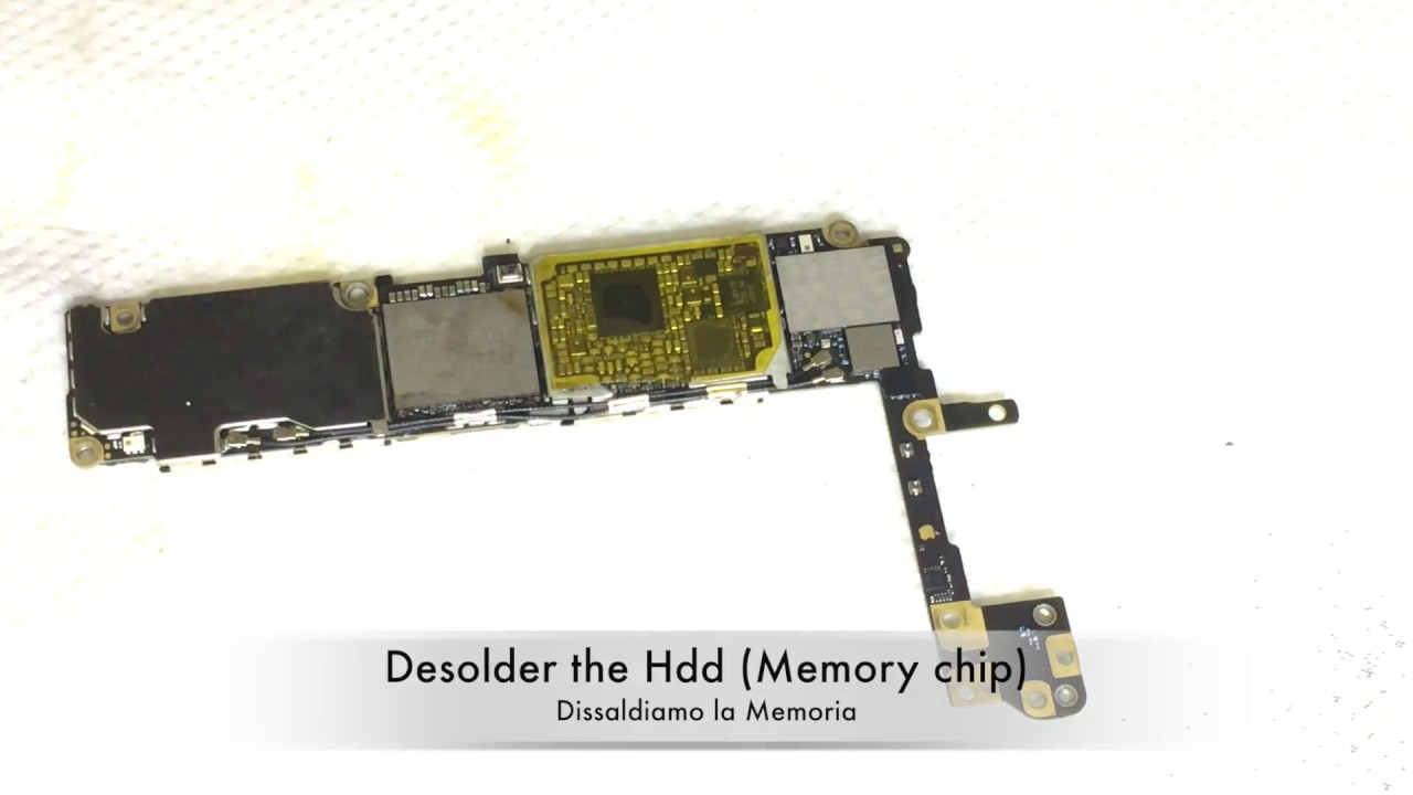 Iphone 6s Memory Upgrade From 16 To 256gb By Replacing Nand Flash Youtube