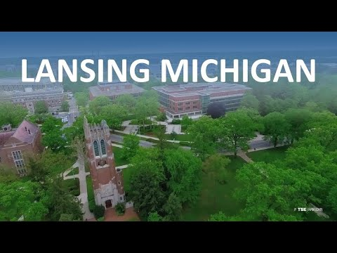 Lansing Michigan from the Air - Aerial Drone Film Reel #6