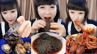 Mukbang Seafood Mentah dan Menjijikan