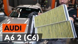 Cómo cambiar Filtro habitáculo AUDI A6 (4F2, C6) - vídeo guía