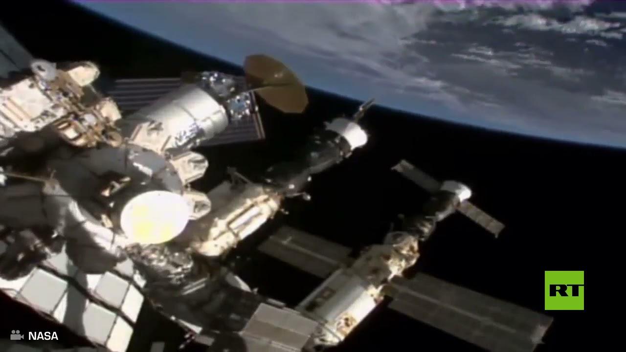 لحظة فقدان السيطرة على محطة الفضاء الدولية قبل استعادتها بالمحركات الروسية