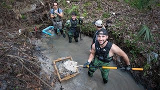 Uncovering 10 MILLION Year Old Megalodon Shark Teeth In River!! (buried) | Jiggin' With Jordan