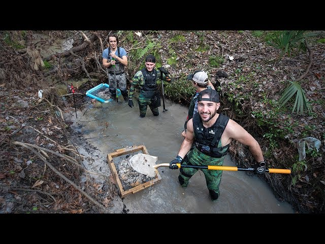 Uncovering 10 MILLION Year Old Megalodon Shark Teeth In River!! (buried)