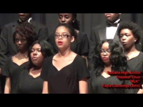 SUITLAND HIGH SCHOOL CHAMBER CHOIR SINGING MLK