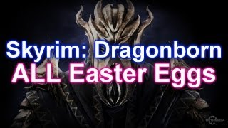 Skyrim - ALL Dragonborn DLC Easter Eggs! Plant Island, Ultimate Boss, MORE!