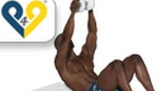 """Bauch training - Die """"Hantel"""" nach oben drücken"""