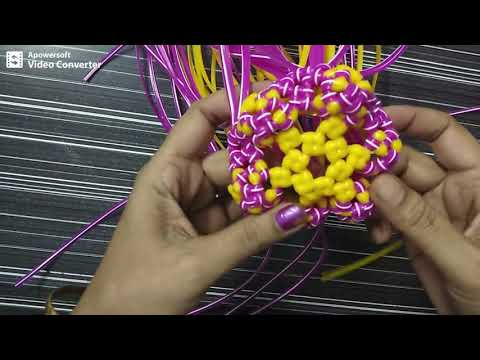 Normal knot || double wire || Pooja basket || Part || 2/5