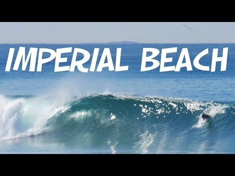IMPERIAL BEACH SURFING 🏄 South San Diego Barrels