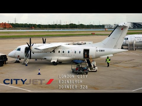Cityjet Full Flight - London City to Edinburgh (Dornier 328)