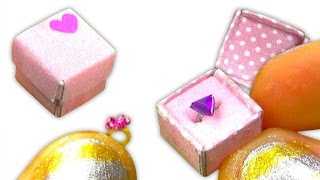 Miniature doll ring or alliance and gift box to keep it inside DIY Tutorial - YolandaMeow♡