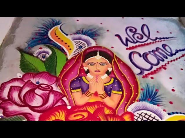 Rangoli Design for wedding