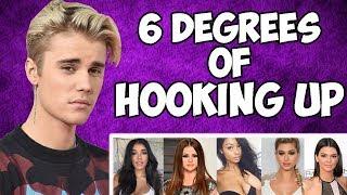 JUSTIN BIEBER - 6 DEGREES OF HOOKING UP ( Selena, Sofia Richie, Hailey Baldwin,  Yovanna Ventura )