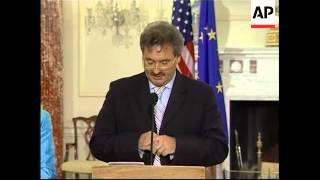 Rice meets EU officials Asselborn and Solana