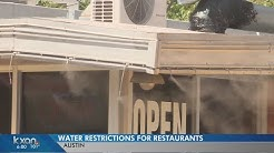 How restaurants are dealing with Austin's water restrictions