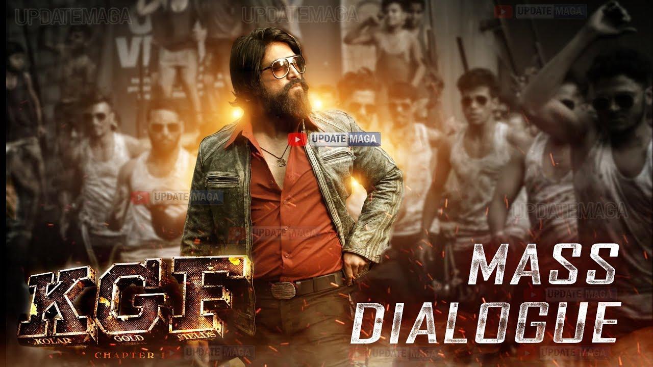 #KGF Movie Mass Dialogues | Yash | Prashanth Neel | KGF Movie | Kannada |  Telugu | Hindi | Tamil