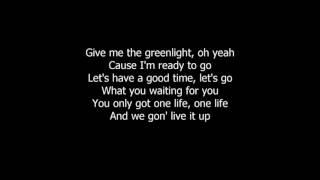 Pitbull - Greenlight ft. Flo Rida, LunchMoney Lewis (Official lyrics) [lyric video]