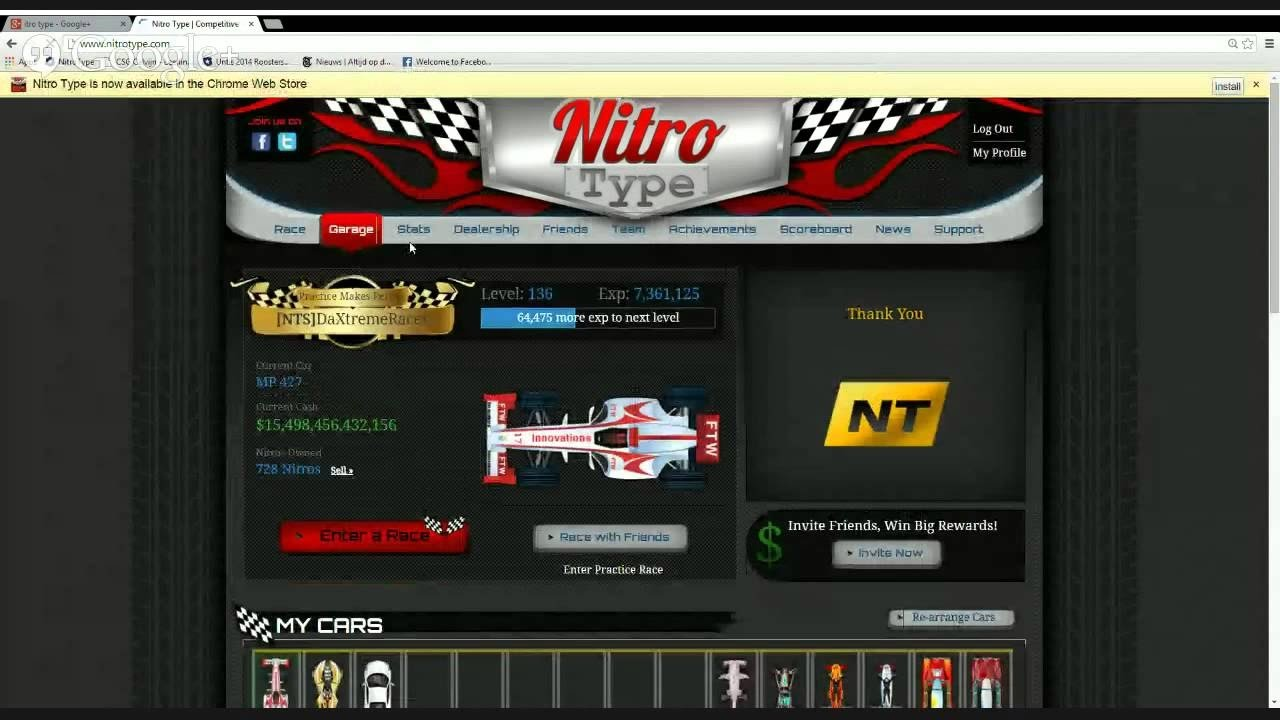 Nitrotype - Me completing 50000 and getting Lacan Hypersport (Lykan  Hypersport)