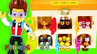 Paw Patrol Ryder & Doc McStuffins Find Toys in Animal Hospital!