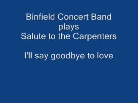 Binfield Concert Band plays Salute to the Carpenters