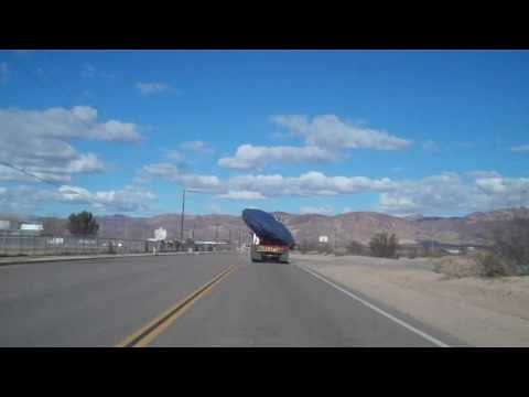 UFO on truck-bed near Area 51