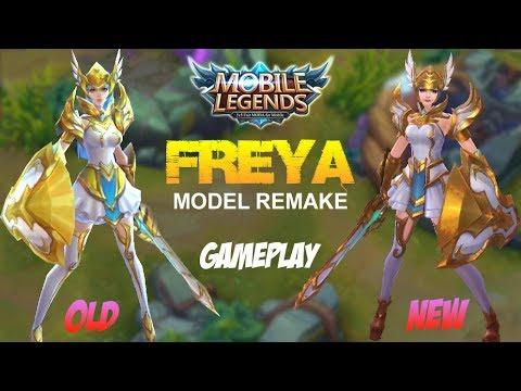 Mobile Legends - FREYA Model Remake Gameplay with Best Build [MVP] Update 1.1.96