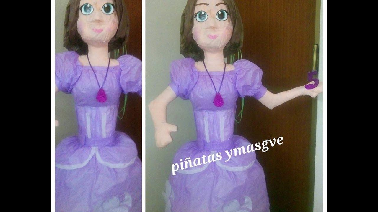 3c8412584 Como poner el cabello de la princesita sofia con papel china - YouTube