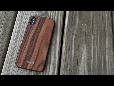 Wooden iPhone X Case by Evutec