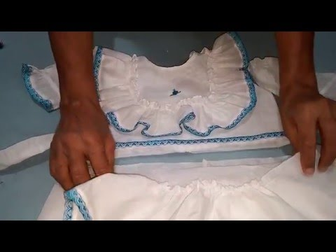 Frock with Frills Cutting and stitching