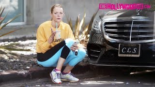 Jaime King Takes A Smoke Break While On A Coffee Run At Blue Bottle 7.5.18 - TheHollywoodFix.com