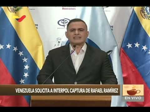 Fiscal General reitera solicitud de extradición de Rafael Ramírez a Italia