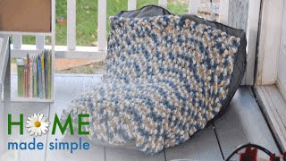 Turn Any Old Blanket Into a Bean Bag Chair | Home Made Simple | Oprah Winfrey Network