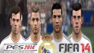 PES 2014 vs FIFA 14 FACE Comparison REAL MADRID