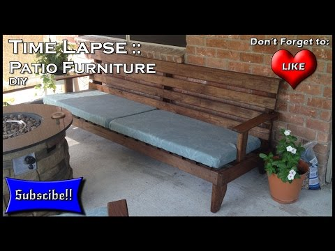 How to Build Patio Furniture Time Lapse - YouTube